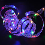 MUQGEW 40 LED Ribbon Window Curtain Lights String Lamp House Party Decor Striking Fairy Lights Xmas Party Garden Decor Promot