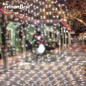 LED stage led light Snow Scene Projector Holiday Decor Lamp Rotating White Lawn Landscape Garden Snowfall Spotlight Lamp outdoor