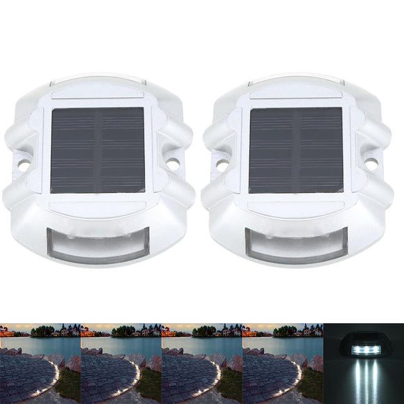 Underground Lamp Solar Powered Stainless Steel Recessed Stair Waterproof LED Floor Light Outdoor Garden Yard Decoration Light