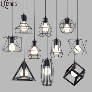 Vintage Pendant Lights LED lights Industrial Pendant Lamp Iron Cage Lampshade Lustres Luminaire Hanglamp Living Room Bar Fixture