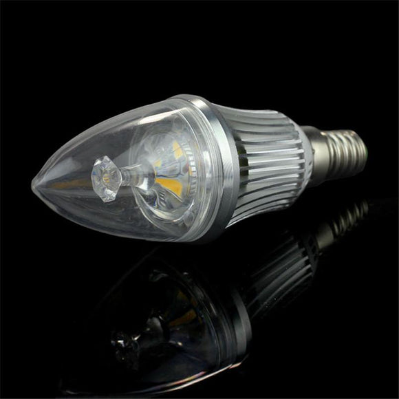Home AC 85V-265V E14 6LED 3W Candle Light Bulb Candelabra Lamp White Home Camping Hunting Emergency Outdoor Light lamparas