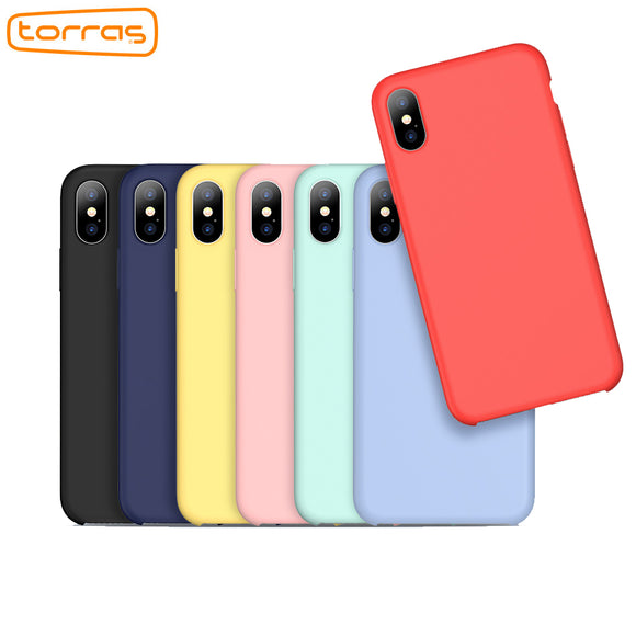 TORRAS liquid silicone phone case for iphone x cover protective phone case microfiber cushion fashion luxury case for iphone x