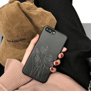 Pull puppets lines phone Cases for iphone X 7 7Plus 8 8plus Soft TPU case For iphone 6 6s 6Plus 6splus protective back cover