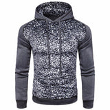 2017 Men's Hooded Fashion Leopard Coat Jacket hoodie Swearshirt Hoodie Slim Long Sleeve Outwear Solid Casual XXL black