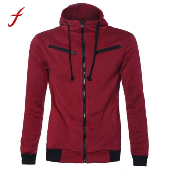 Men's Sportswear Hoody Hoodies Sweatshirt Details Men's Stylish Slim Fit Warm Hooded Sweatshirt Zipper Coat Jacket Outwear