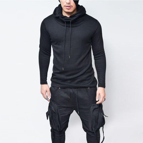 The North Of Men Hooded Sweatshirts With Black Gown Hip Hop Mantle Hoodies Jacket long Sleeves Cloak Man's Coats Outwear Face