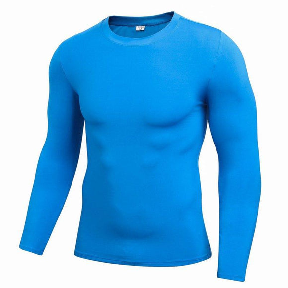 2017 Fashion Men Comfort Quick-drying T-shirt Long Sleeve O-Neck Perspiration Casual T-shirts Plue Size