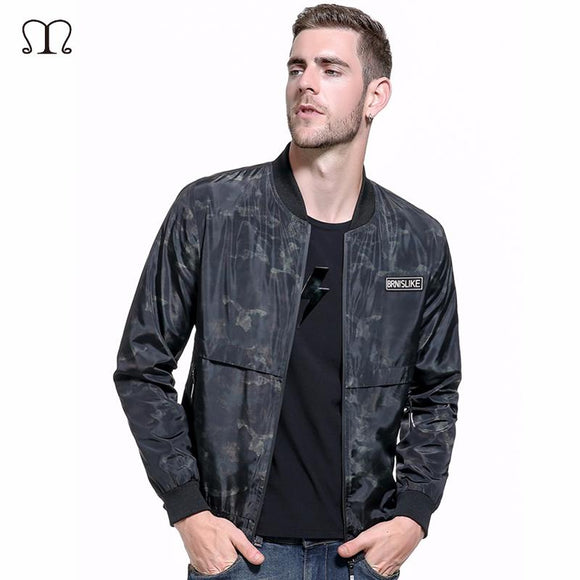 Europe Size 2017 Autumn Spring Men Bomber Jacket Fashion Casual Coats windbreaker Hooded Camouflage Jacket Jaqueta Masculina