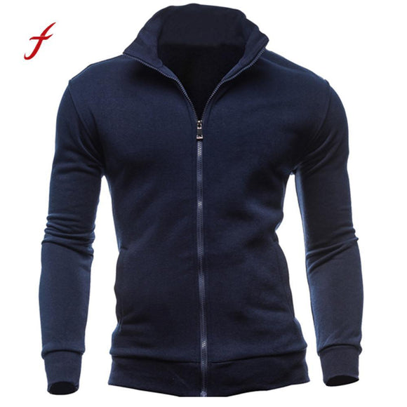 Men's Autumn Winter Leisure Cardigan Zipper Sweatshirts Tops Jacket Coat parka men winter jackets bomber autumn coat veste homme