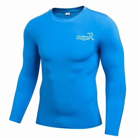 Men Comfort T-shirts Quick-Drying Sweat Compression Tights High Quality Long Sleeve O-Neck Slim Solid Tops