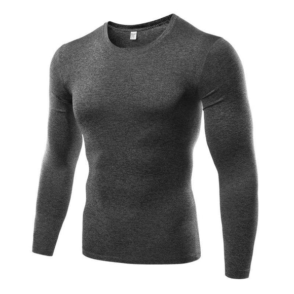 Men Compression Base Layer T-shirt Top Shirt Under Skin Long Sleeve O-Neck T-shirt Tops Tees