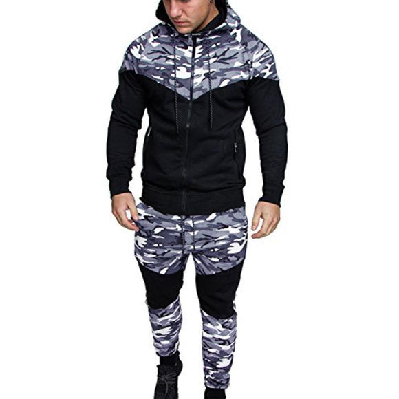 The North Of Men Camouflage Hoodies Pants Sets Male Military Printing Pullovers Sweatshirts Man Hoodies men Sportswear Top Face