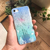 Kerzzil 3D Relief Mermaid Soft Flower Case For iPhone 7 6 6S Plus 5 SE 5s Cartoon Silicone Cover For iPhone X 6 6S 8 Plus Capa