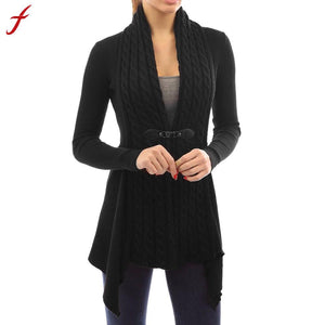 2017 Autumn&Winter Knitted Crochet Sweater for Women Long Sleeve Casual Knitted Cardigan Outwear warm long sweater jumpers