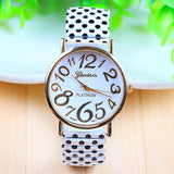 xiniu Stylish Lovely Women Watches Girls Casual Polka Dot Elastic Strip Quartz Wrist Watch relogios feminino Clock 2017 New