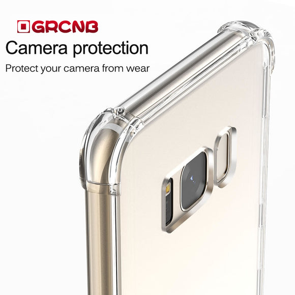 soft transparent TPU case For Samsung galaxy S7 Edge S8 silicon cover For samsung S8 Plus case cover clear back cover
