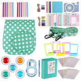 Neewer Blue/White 34-in-1 Accessories Kit for Fujifilm Instax Mini 8/8s: Case/Album/Selfie Lens/Colored Filter/Table Frame