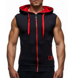 Male Bodybuilding Hoodies Fitness Clothes Hoody Cotton Hoodie Men Sweatshirts Men's Sleeveless Tank Tops Casual Vest