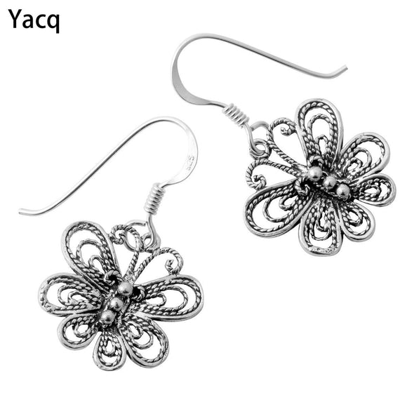 YACQ 925 Sterling Silver Butterfly Dangle Drop Earrings Birthday Jewelry Gifts For Women Wife Her Girlfriend ping CE14