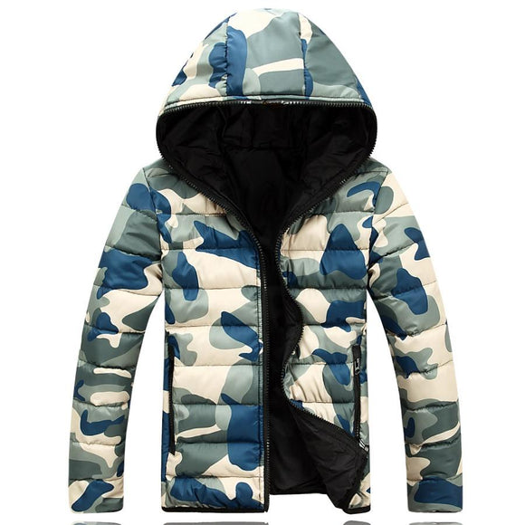 Winter Men Jacket 2017 Brand Casual Warmth Camouflage Mens Jackets And Coats Thick Parka Men Outwear XXXL