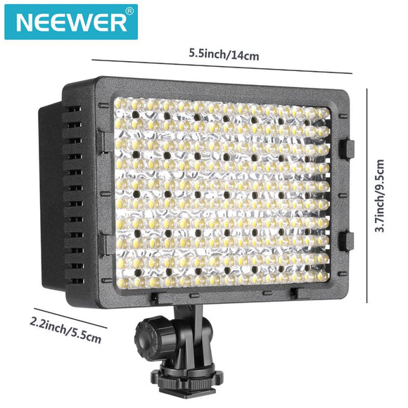 NEEWER 2-Pack 160 LED CN-160 Dimmable Ultra High Power Panel Digital Camera for Canon Nikon Pentax Panasonic Olympus Digital