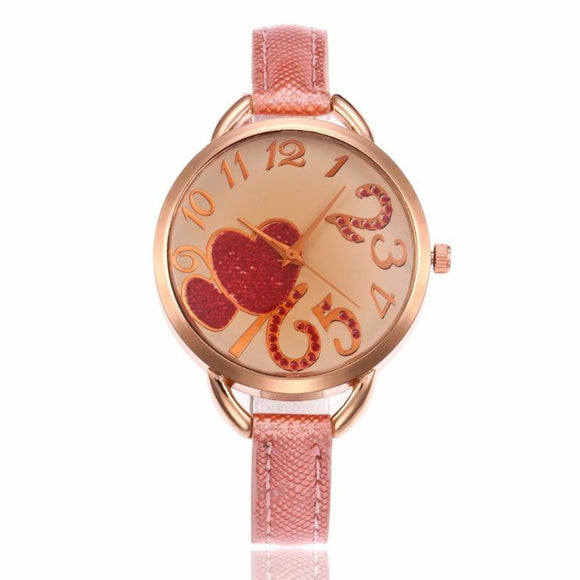 Malloom DIY Gold Watches Women Fashion Watch 2017 Gift Smooth Small Band PU Leather Watches Women Clock Montre Femme