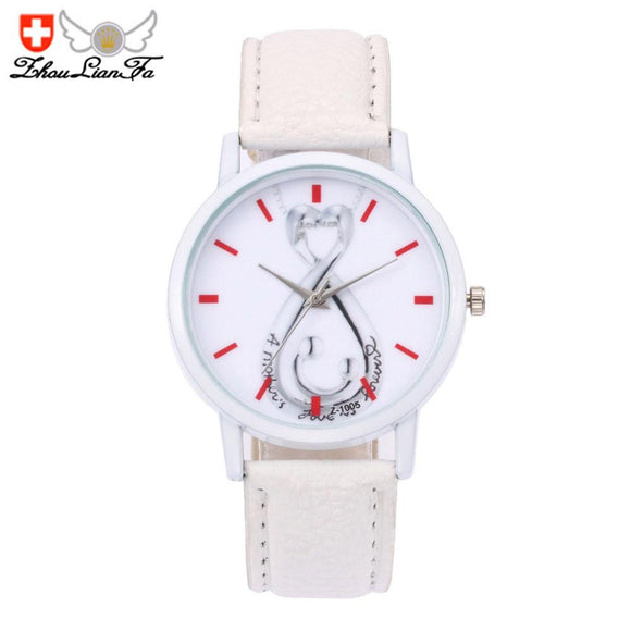 ZhouLianFa Wedding Watches Women Fashion Watch 2017 Gift High Quality PU Leather Quartz Watches Women Clock Reloj Mujer