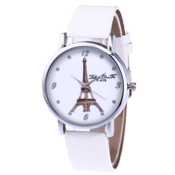 ZhouLianFa Big Dial Clock Artificial Leather Ladies Leisure Bracelet Quartz Watch Womens Gift Watches Relogio