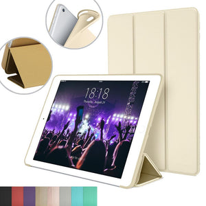 Smart Stand Cover for Apple iPad Air 2 A1566 A1567 with Flexible Soft Back TPU Case