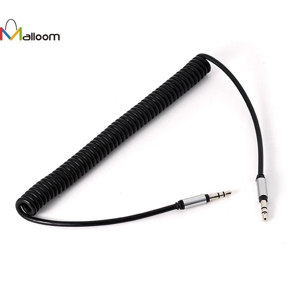 Malloom 2017 Price 3.5 mm Coiled Stereo Audio Cable Car Auxiliary Audio Cable Male To Male AUX Extension Cable#25