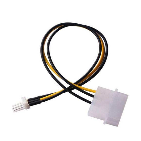 Malloom 2017 CPU Chasis Case Fan Power Connector Cable Adapter for 4-Pin Molex IDE to 3-Pin Cable ing