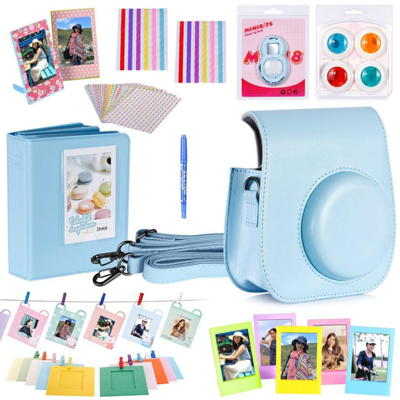 Neewer 10 in 1 On Sale Camera Bundles Set for Fujifilm Instax Mini 8/8s Include Album/Selfie Lens/Colored Filter/Wall Hang Fram