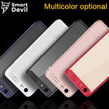SmartDevil new luxury mobile phone case for iphone 7 8 plus back protective cover matte PC TPU shell ultra thin transparent bag