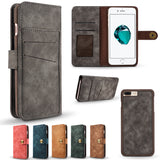 Magnetic Detachable Phone Back Cover Luxury Wallet Flip Leather Case For iPhone X Card Slot for iPhone 6 Plus/7/7 Plus/8/8 Plus