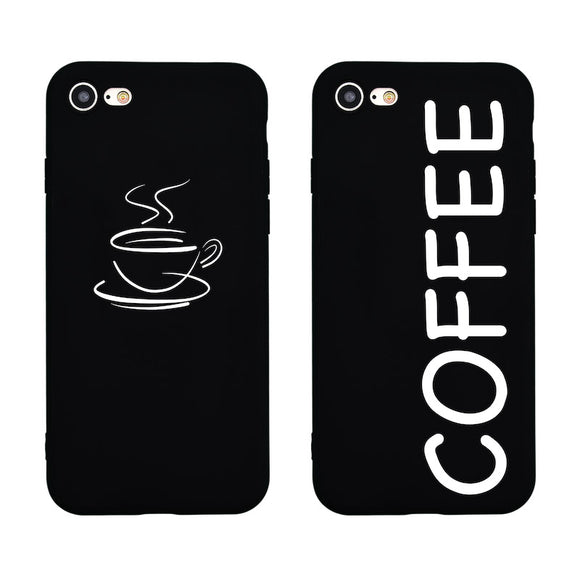 Coffee X Funny Cute Cartoon Case for iPhone 7 Soft Silicon Phone Cover for iPhone 7 6 6s Plus 5s 5 SE Coque Fundas Capas Shell