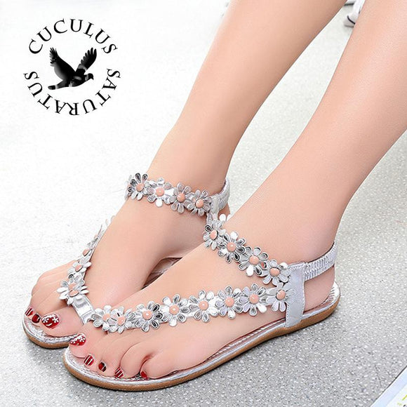 Cuculus 2017 Women Sandals Summer Style Bling Bowtie Fashion Peep Toe Jelly Shoes Sandal Flat Shoes Woman 3 Colors 01F669