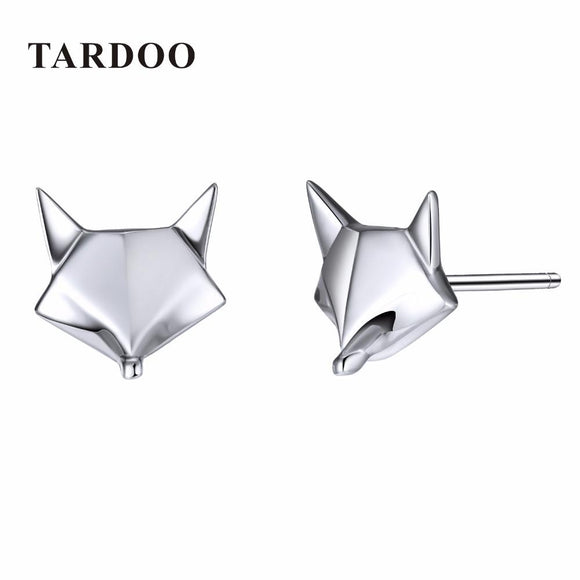 Tardoo Genuine 925 Sterling Silver Stud Earrings for Women Fox Shape Lovely & Classic Style Brand Fine Jewelry