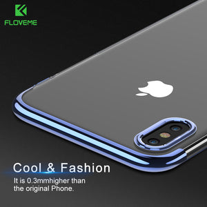 FLOVEME Case For iPhone 6 6S 7 Case Fashion Ultra Slim Clear Cover Case For iPhone 6 6S 7 Plus iPhone 8 X Cases Cover