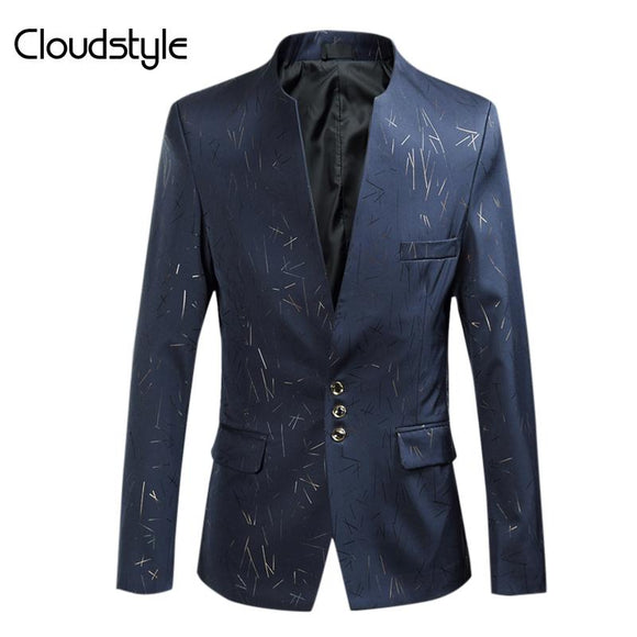 Cloudstyle Male Blazer Plus Size 4XL Fashion Casual Slim Fit Jackets Men Suits For Party Autumn Winter High Quality Outwears Men