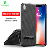 FLOVEME Kickstand Phone Case For iPhone 7 6S 8 Plus X Luxury Mobile Phone Bag Case Soft Silicon Cover For iPhone 7 6S 8 X Case