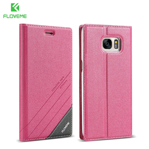 FLOVEME Flip Case For Samsung Galaxy S8 Plus S7edge S6 edge Plus S5 Cover Bag Luxury Leather Holster Bags Coque Shell Funda Capa