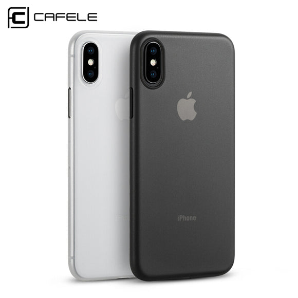 Cafele Matte Phone Case for Apple iPhone X Case PP Material Anti-fingerprint Ultra-thin 0.4mm PP Case Cover for iPhone X