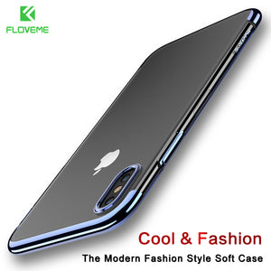 FLOVEME Luxury Phone Case For iPhone X 10 Case 3D Transparent Case For iPhone X Cover Soft TPU Silicone Capinhas Capa