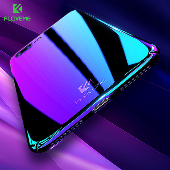 FLOVEME Case For Samsung Galaxy Note 8 S8 S7 S6 Edge Xiaomi Redmi 4X 4A Blue Ray Cover Cases For iPhone X 8 7 Plus 5s 5 SE Capa