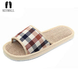 2017 Natural Flax Home Slippers Indoor Floor Shoes Silent Sweat Slippers For Summer Women Sandals Slippers WS302
