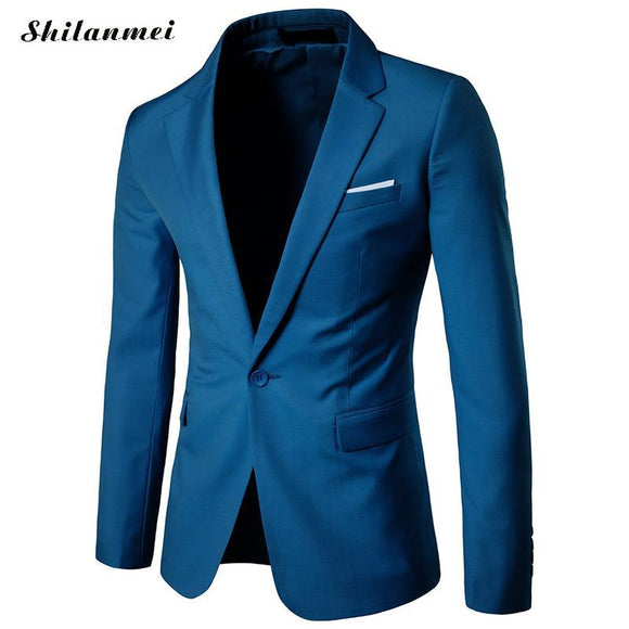 2017 New Fashion Mens Blazer Casual Suits Slim Fit suit jacket Men veste Homme Costume Cotton Masculin Blazer jacket plus size