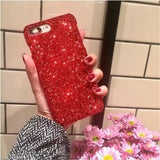 Luxury Bling Glitter Shining Sequins Case For iPhone 6 6S 7 8 Plus Soft TPU Candy Colorful Phone Back Cover For iPhone X