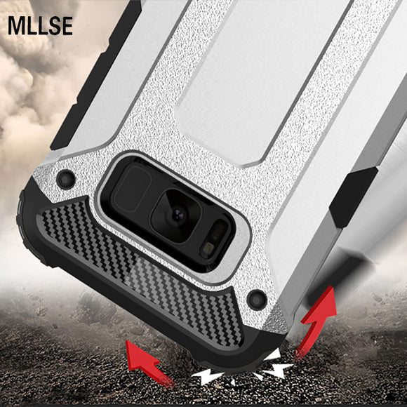 MLLSE Strong Hybrid Tough Shockproof Armor Phone Case For SAMSUNG Note 8 S8 Plus S7 6 Edge+ A3 A5 A7 2016 2017 Hard Rugged Cover