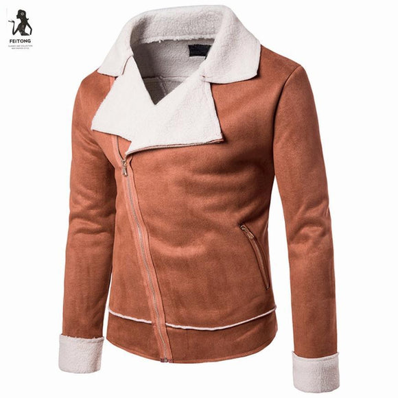 Men's Long Sleeve Zipper Sweatshirt Tops Turn Down Collar Jacket Coat Outwear