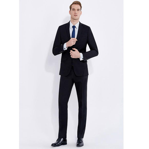 Smart Casual Classic Black Business Style Suit Slim Fit for Men Groom Tuxedos Wedding Suit 2 Pieces (Jacket+Pants) 2018 New
